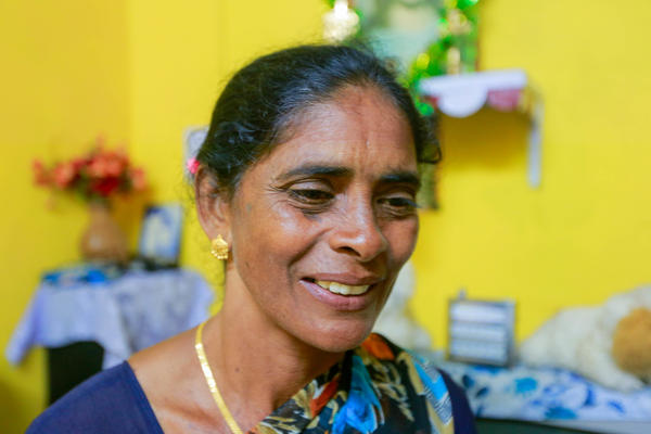 Lissy Sunny is president of the Women's Collective formed last fall to represent the nearly all-female work force of tea pickers at the Kanan Devan Hills Plantations Company.