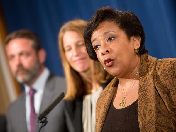 Attorney General Loretta E. Lynch speaks at a June 22 news conference in Washington.