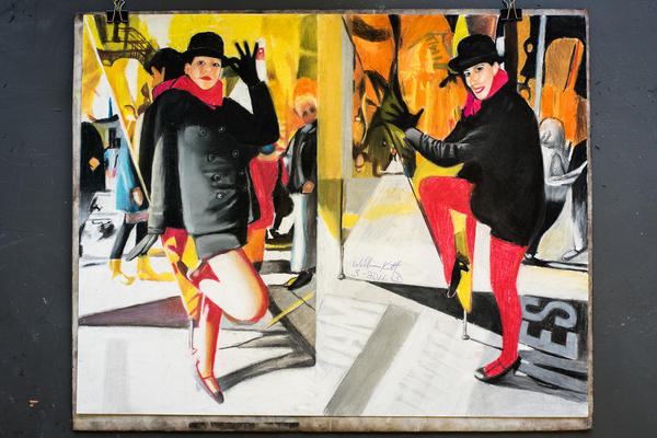 William Kitt's portraits are based on his observations of the vibrant street life of Manhattan.