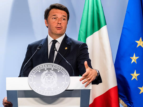 Italian Prime Minister Matteo Renzi speaks during an EU summit in Brussels last  Wednesday.