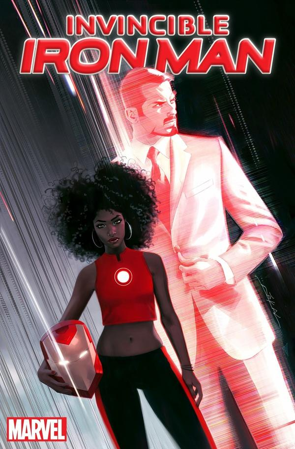 The cover of <em>Invincible Iron Man, </em>with art by Jeff Dekal.