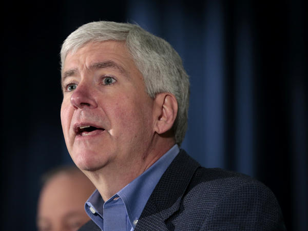 "Gov. Rick Snyder called for the people of Michigan to ""be supportive of law enforcement,"" after a shooting at a courthouse in St. Joseph killed two bailiffs and injured two others."