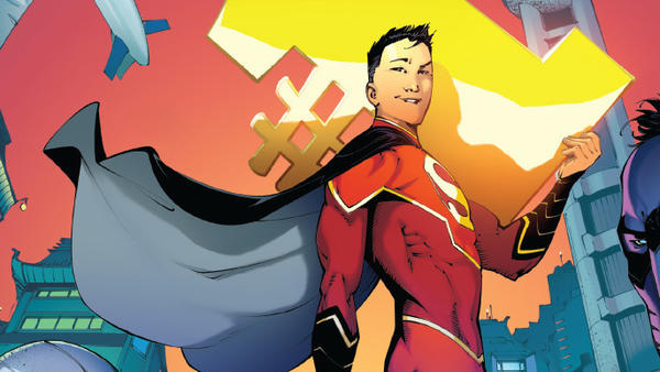 Kong Kenan, who's Chinese, takes up the mantle of Superman in <em>New Super-Man #1</em>, written by Gene Yang.