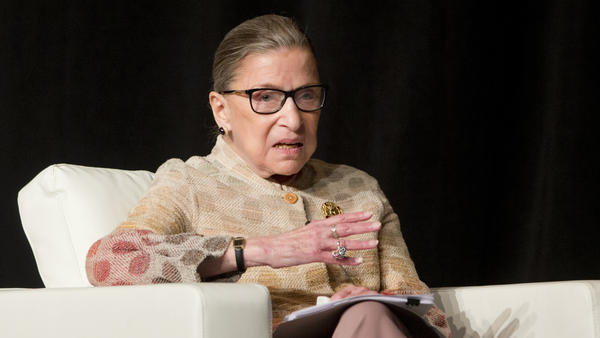 Justice Ruth Bader Ginsburg at a conference in Saratoga Springs, N.Y., earlier this year.