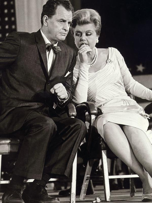 Angela Lansbury had a minor career going as a candidate-whisperer in <em>The Manchurian Candidate</em> (pictured, with James Gregory) and <em>State of the Union</em>.