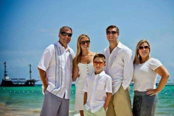 This photo provided by Jess Davis shows the Copeland family (from left) Sean, Maegan, Brodie, Austin and Kim. Davis, a family friend, said Sean and Brodie were killed Thursday when a Tunisian-born man drove a truck through crowds celebrating Bastille Day along Nice's beachfront, killing scores of people.