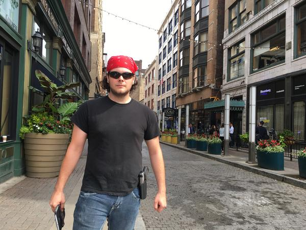 Clayton Allen, 21, says he open-carries all the time and the Republican convention will not be an exception.