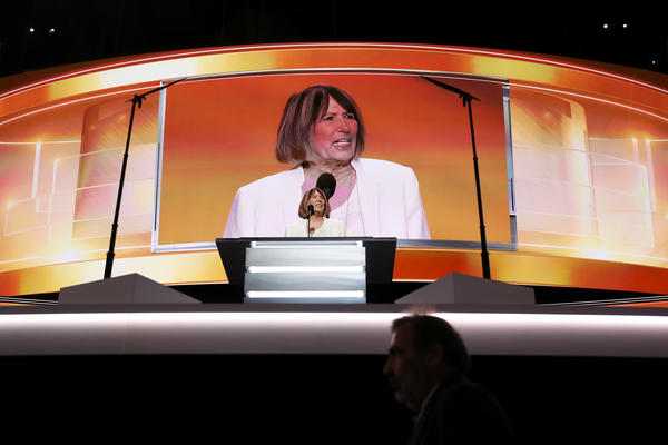 Pat Smith, mother of Sean Smith, one of the four Americans killed in the September 11, 2012 terror attack on the U.S. Consulate in Benghazi, Libya, delivers a speech on the first day of the Republican National Convention.
