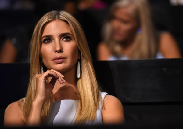 Ivanka listens to a speaker from the audience during the second day of the Republican National Convention in Cleveland.