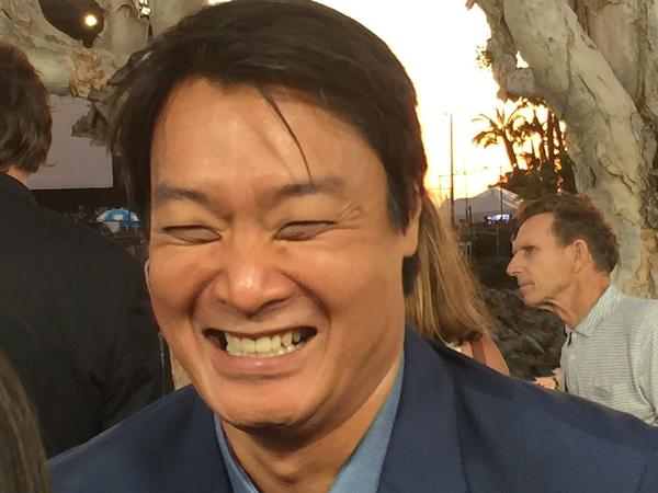 Doug Jung, who co-wrote the film with Simon Pegg (and appears as Sulu's husband): game good humor.
