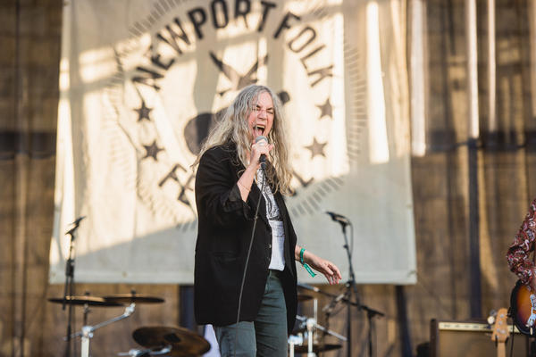 """Patti Smith's inspiring, politically-charged set on Saturday evening included """"People Have The Power"""" and her fiery version of The Who's """"My Generation."""""""
