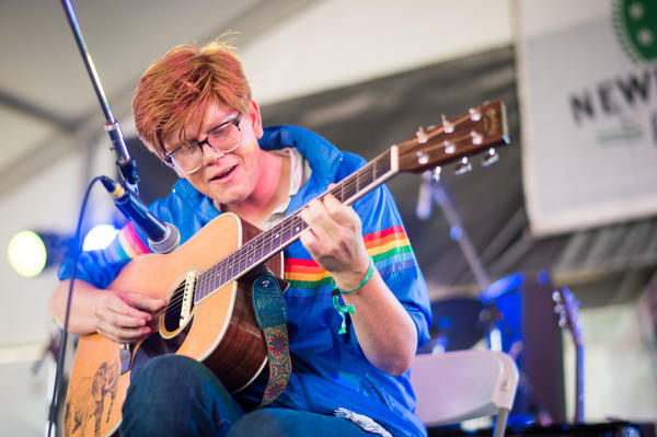 There were some technical difficulties at the top of Brett Dennen's set, but he improvised and played his first few songs solo, with just one working microphone.
