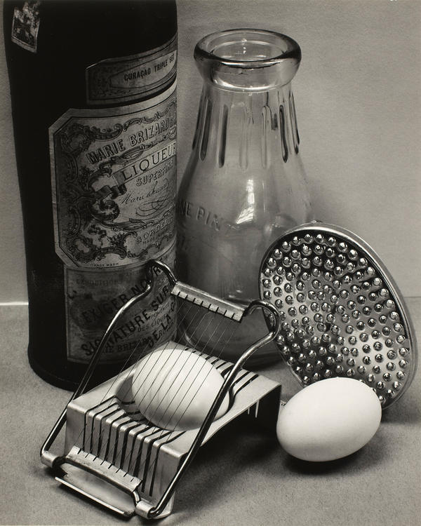"""Ansel Adams, <em>Still Life</em>, San Francisco, 1932, with the recipe: <a href=""""#eggs"""">Ansel Adams's Poached Eggs in Beer</a>."""