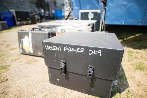 Backstage Friday at Newport Folk: Violent Femmes were here.