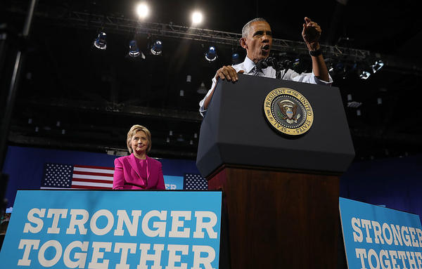 President Obama and Hillary Clinton campaigned earlier this month in Charlotte, N.C.