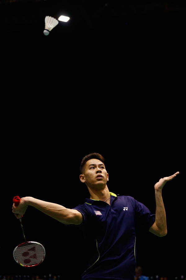 Howard Shu return a shot during a singles match in the 2015 Badminton Open in Auckland, New Zealand. Shu is the lone American who will be competing in men's singles at the Olympics, where the U.S. has never medaled in badminton.
