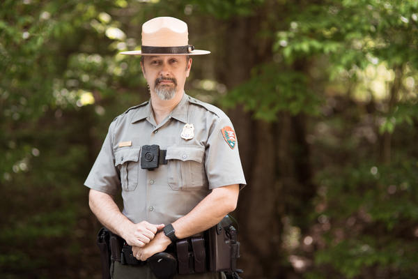 Will Jaynes patrols the Appalachian Trail as a law enforcement officer. He has worked with the National Park Service for 15 years.