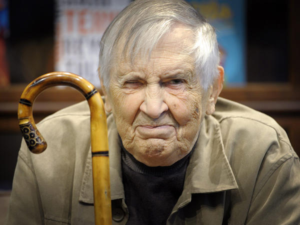Finnish composer Einojuhani Rautavaara, photographed in Helsinki in October, 2014.