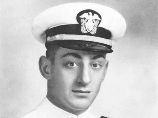 Young Navy Ensign Harvey Milk would become a leading figure in the gay rights movement.