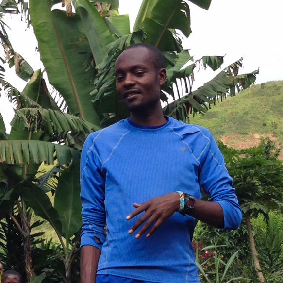 """Makorobondo """"Dee"""" Salukombo, who'll compete in the marathon in Rio for the Democratic Republic of Congo, started a running team to help the youth of his homeland. """"If it's hard, it's worth doing,"""" he tells them."""