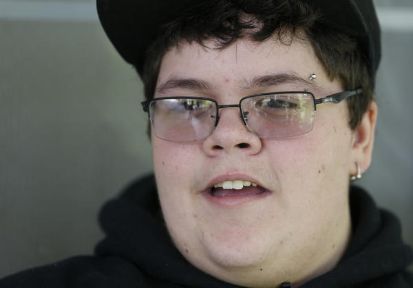 Gavin Grimm speaks during an interview at his home in Gloucester, Va., in 2015.