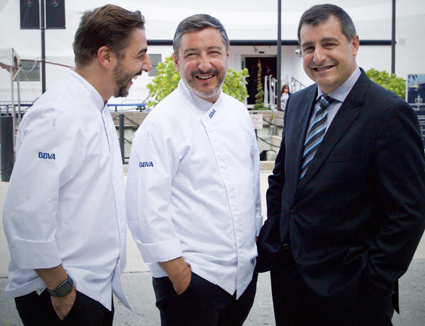 File photo of the Roca brothers, who run El Celler de Can Roca, a top-rated restaurant in northeast Spain. From left to right: Jordi, Joan and Josep Roca.