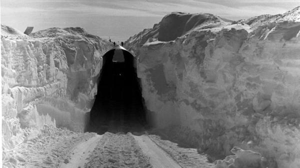 A view of the main trench to the permanent camp at Camp Century, Greenland, in the 1950s. The U.S. Army base was abandoned in 1967, after Greenland's ice sheet began shifting and the Army realized that the tunnels wouldn't last.