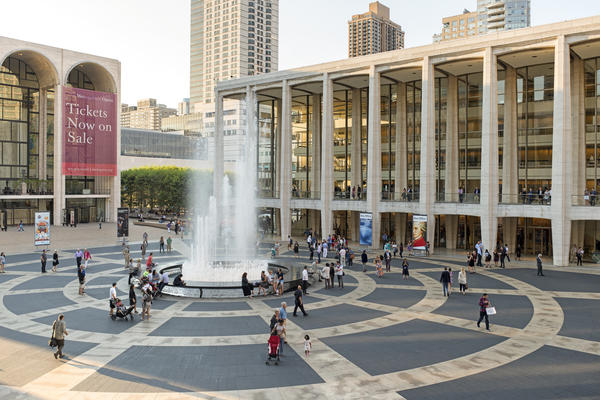 Lincoln Center's Josie Robertson Plaza, where on Saturday 1,000 singers gathered to perform a new work by composer David Lang.