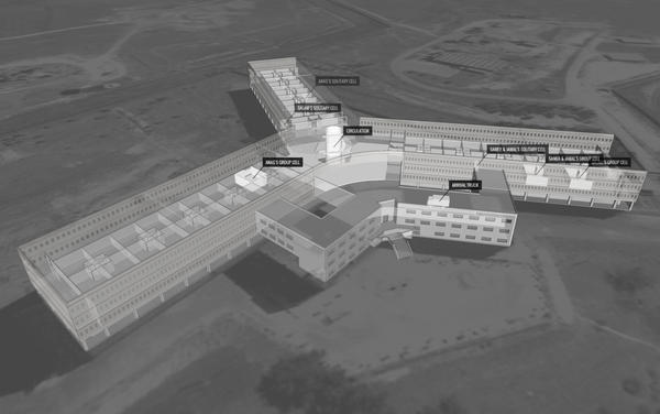 Amnesty International interviewed former Saydnaya detainees and then used architectural and acoustic modeling to reconstruct the architecture of the prison. The interview techniques were developed by Forensic Architecture at Goldsmiths, University of London, in consultation with the university's Forensic Psychology Unit.