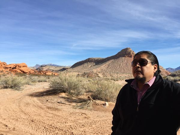 William Anderson, a former chairman of the Moapa Band of Paiutes tribe, is leading an effort to get the remote Gold Butte area permanently protected. Parts of the land are considered sacred by local tribes.