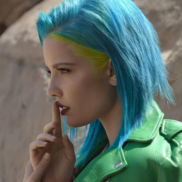 "Rising pop star Halsey appears on ""Closer."""