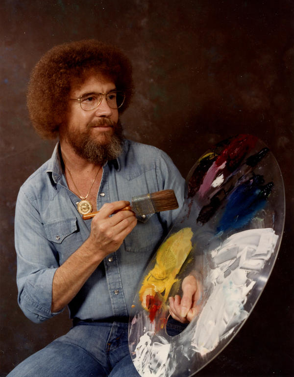 In the 1980s and 1990s, Ross was a fixture on PBS.<em> The Joy of Painting</em> invited viewers to watch over Ross' shoulder as he created small masterpieces in under 30 minutes.