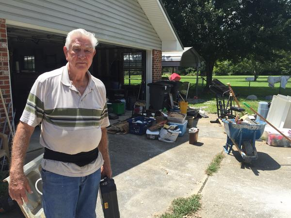 Like a lot of his neighbors near Zachary, La., 79-year-old Al McGee and his wife didn't have flood insurance and don't expect to be eligible for much state and federal disaster aid.