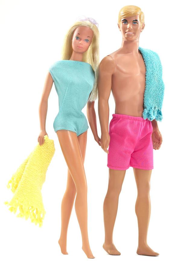 Malibu Barbie and her boyfriend Ken in the 1970s.