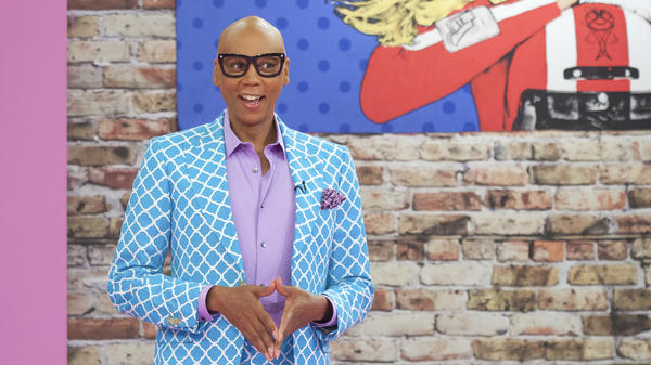 <em></em>RuPaul on the set of his hit reality show, <em>RuPaul's Drag Race.</em>