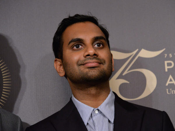 Comedian Aziz Ansari on May 21, 2016 in New York City. Ansari is nominated for three Emmys as a writer, director and actor in <em>Master of None</em>.