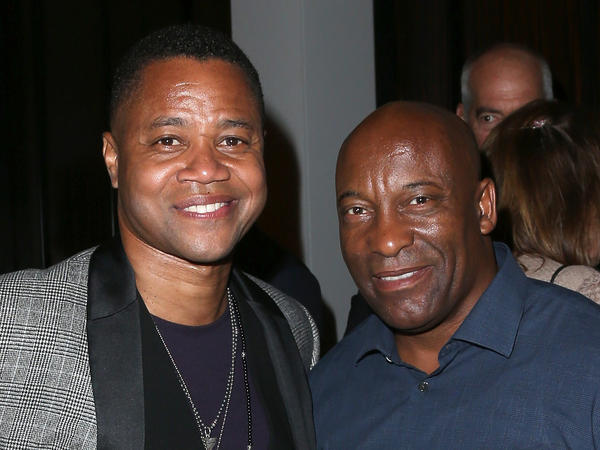 Actor Cuba Gooding Jr. (L) and director John Singleton at The Beverly Hilton Hotel on Aug. 6, 2016 in Beverly Hills, Calif. The two earned their first Emmy nominations this year.
