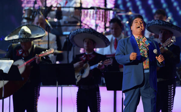 Juan Gabriel performs onstage at the Billboard Latin Music Awards in Miami in April. The singer died on Sunday at the age of 66.