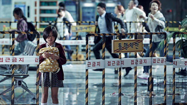 Kim Su-an plays a little girl trying to get to her mother on an ill-fated train.