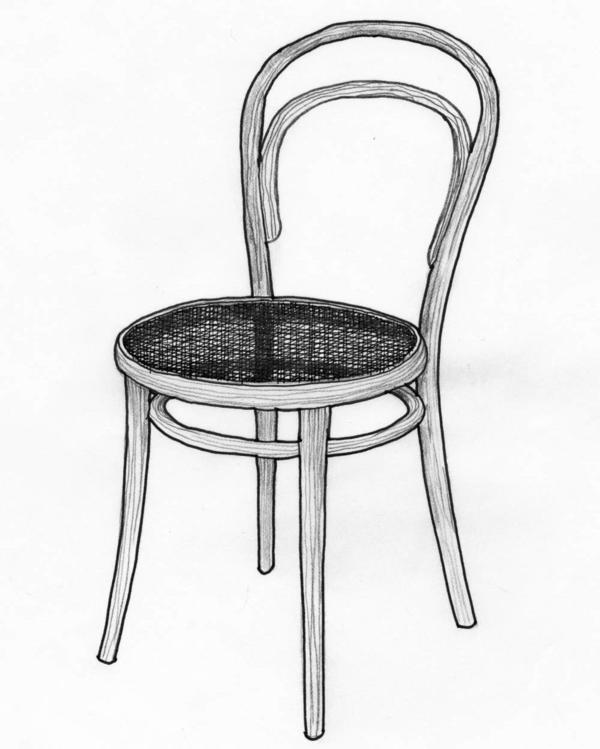 Michael Thonet , the German-Austrian furniture maker who made this cafe chair, also simplified the process of bending wood.