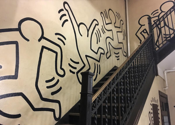 Celebrated street artist Keith Haring painted this mural in the stairwell of a former convent in the 1980s. Now, the church that owns the Manhattan building — which offered low-cost housing — says it's suffering financial difficulties and has asked its tenants to leave. But two tenants are fighting eviction and raising concerns about the future of the mural.