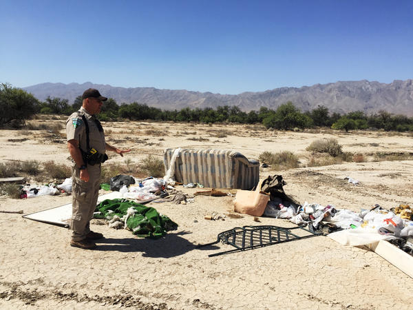 Since the last time Nalen visited, the area has turned into a trash dump.