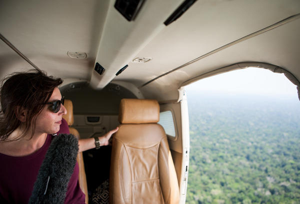 Lourdes Garcia-Navarro on assignment in the Brazilian Amazon in 2015.