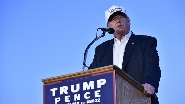 Donald Trump speaks during a rally in Colorado Springs, Colo., earlier this month.