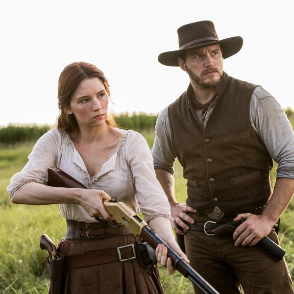 Haley Bennett and Chris Pratt in <em>The Magnificent Seven.</em>