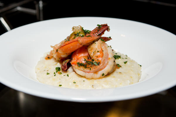 Gulf Shrimp & Anson Mills Stone Ground White Grits — a favorite dish of the Creole Coast.