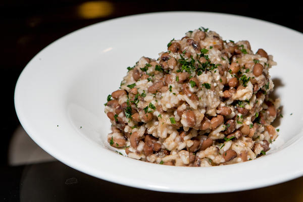 Gullah-Style Hoppin' John, a traditional New Year's dish from the American South, is served in the Sweet Home Cafe with sea island red peas instead of black eyed peas.