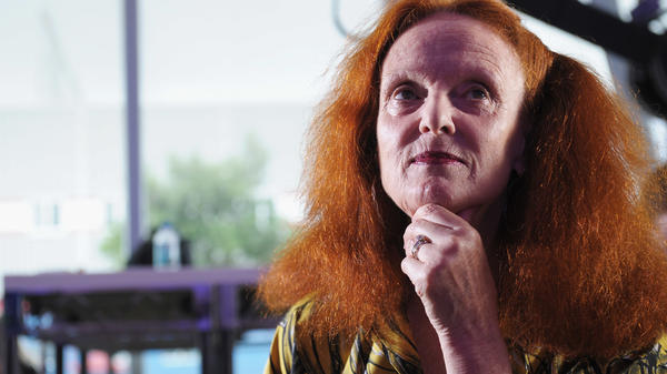 Grace Coddington started her career as a model. She now directs photo spreads for American <em>Vogue</em>.
