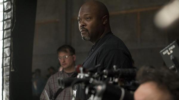 Showrunner Cheo Coker on the set of Marvel's hotly anticipated new series <em>Luke Cage.</em>