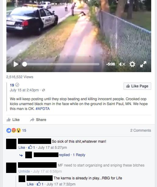 A comment on this post (indicated by the light gray text) was flagged by NPR. Facebook's subcontractors did not remove the comment, but after being pressed further, a spokesperson said they made a mistake and it should have been removed.